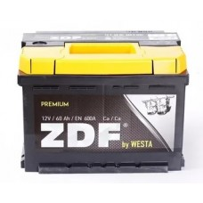 """Аккумулятор 6СТ-60 """"ZDF Premium"""" (низкий) (МНПК """"Westa"""")"""