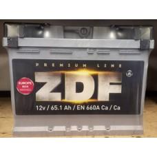 """Аккумулятор 6СТ-65 """"ZDF PREMIUM"""" (ОБР.) (МНПК """"WESTA"""")"""