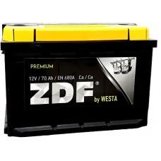 """Аккумулятор 6СТ-70 """"ZDF PREMIUM"""" (ОБР.) (МНПК """"WESTA"""")"""