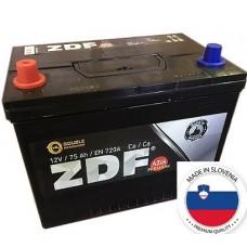 "Аккумулятор 6СТ-75 ASIA ""ZDF PREMIUM"" (ПРЯМОЙ) B01 (EUROPE) (JIS 75D26R, 80D26R, 90D26R)"