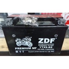 Аккумулятор  ZDF Moto Battery 1209.1 DC MF (YTX9-BS) (прямая)  (э-т прил.) (CCA 110A,  150/87/105)