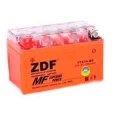 Аккумулятор ZDF MOTO BATTERY  1207.5 GEL (YTX7A-BS) ПРЯМАЯ